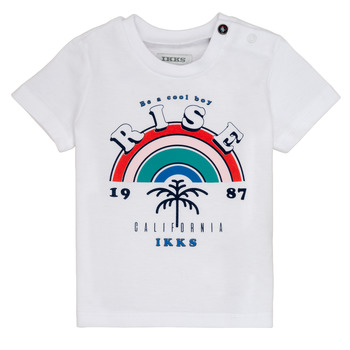 material Boy short-sleeved t-shirts Ikks TITI White