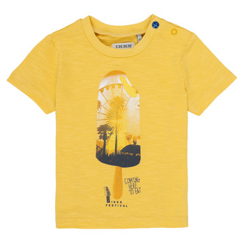 material Boy short-sleeved t-shirts Ikks CORINNE Yellow