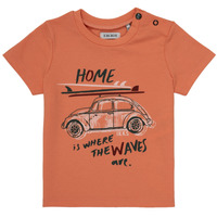 material Boy short-sleeved t-shirts Ikks MANU Orange