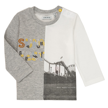 material Boy Long sleeved shirts Ikks MAELINO Grey