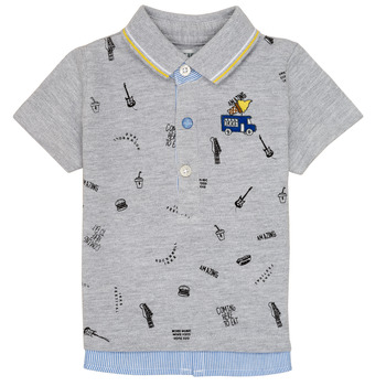 material Boy short-sleeved polo shirts Ikks MAELYS Grey