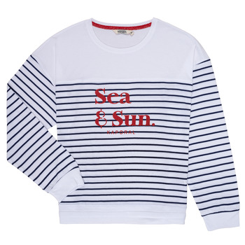 material Girl Long sleeved shirts Kaporal JOVI White / Marine