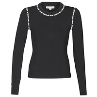 material Women jumpers MICHAEL Michael Kors MK TRIM LS CREW Black