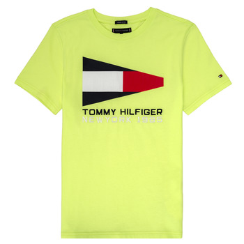 material Boy short-sleeved t-shirts Tommy Hilfiger KB0KB05628 Yellow