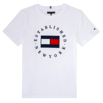 material Boy short-sleeved t-shirts Tommy Hilfiger KB0KB05718 White