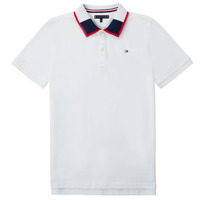 material Boy short-sleeved polo shirts Tommy Hilfiger KB0KB05658 White