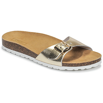 Shoes Women Mules Only MADISON METALLIC LEATHER Gold