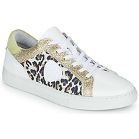 Shoes Women Low top trainers Philippe Morvan FURRY White / Leopard / Glitter