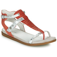 Shoes Women Sandals Regard BAZUR V1 ESPERIA BRIQUE Red / Silver