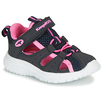 Shoes Girl Sandals Kangaroos KI-ROCK LITE EV Blue / Pink
