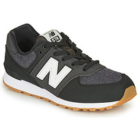 Shoes Boy Low top trainers New Balance 574 Black / Grey