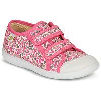 Shoes Girl Low top trainers Citrouille et Compagnie GLASSIA Pink / Multicolour