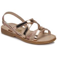 Shoes Girl Sandals Citrouille et Compagnie GENTOU Bronze / Glitter