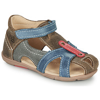Shoes Boy Sandals Citrouille et Compagnie MARIOL Grey / Blue