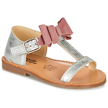 Shoes Girl Sandals Citrouille et Compagnie MELINDA Pink / Gold
