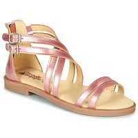 Shoes Girl Sandals Citrouille et Compagnie IMOURAT Pink / Gold