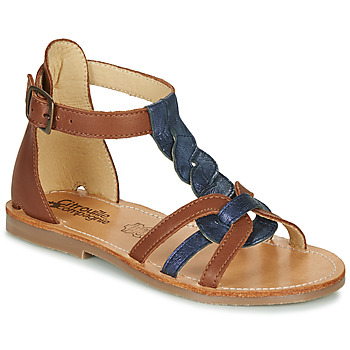 Shoes Girl Sandals Citrouille et Compagnie GITANOLO Marine / Camel