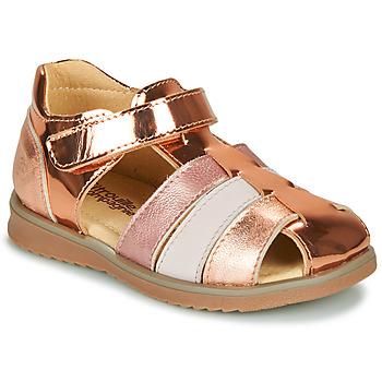 Shoes Girl Sandals Citrouille et Compagnie FRINOUI Bronze / Pink