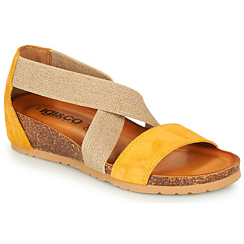 Shoes Women Sandals IgI&CO 5198166 Yellow