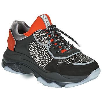 Shoes Women Low top trainers Bronx BAISLEY Black / Orange