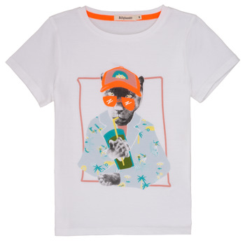 material Boy short-sleeved t-shirts Billieblush / Billybandit NOLVI White