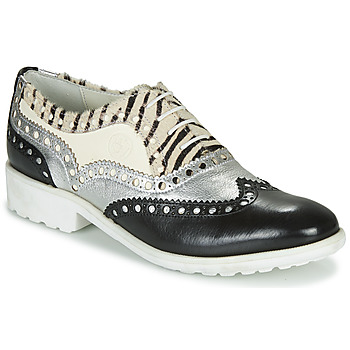 Shoes Women Derby shoes Melvin & Hamilton AMELIE 87 Black / Silver / White
