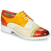 Shoes Women Derby shoes Melvin & Hamilton AMELIE 85 White / Yellow / Brown