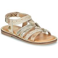 Shoes Girl Sandals Gioseppo PIGNOLA Beige / Gold