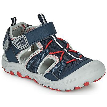 Shoes Boy Sports sandals Gioseppo MAZATLAN Marine / Red