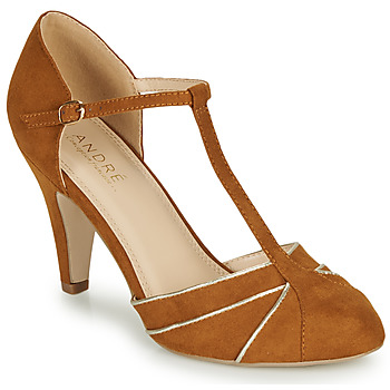 Shoes Women Court shoes André JULIETTE Camel