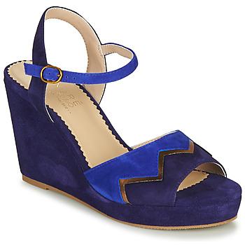 Shoes Women Sandals André LA JONGLEUSE Blue