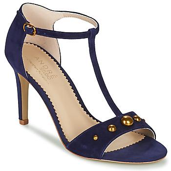 Shoes Women Sandals André LA DOMPTEUSE Blue