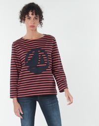 material Women Blouses Petit Bateau  Red / Marine