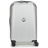 Bags Hard Suitcases Delsey SECURITME ZIP 55 CM 4 DOUBLE WHEELS TROLLEY Silver