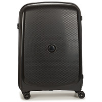 Bags Hard Suitcases Delsey 71 CM 4 DOUBLE WHEELS TROLLEY CASE Black