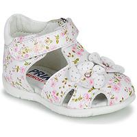 Shoes Girl Sandals Primigi  White / Pink