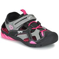 Shoes Girl Sports sandals Primigi  Black / Pink