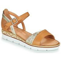 Shoes Women Sandals Karston KILGUM Brown / Silver