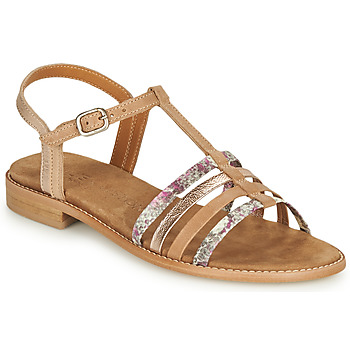 Shoes Women Sandals Karston XAXON Brown / Silver