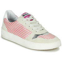 Shoes Women Low top trainers Meline GUILI Beige / Red