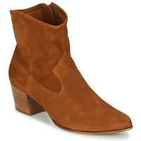 Shoes Women Ankle boots Unisa GALVEZ Camel