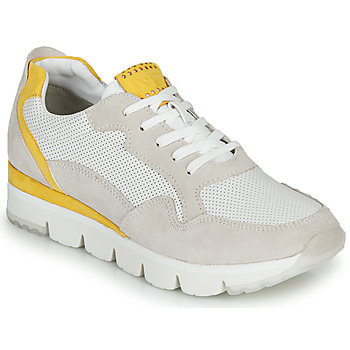 Shoes Women Low top trainers Marco Tozzi  White / Yellow