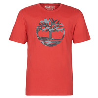 material Men short-sleeved t-shirts Timberland SS KENNEBEC RIVER CAMO TREE TEE Red