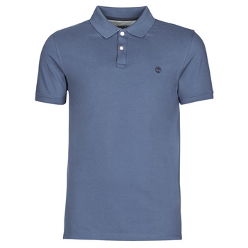material Men short-sleeved polo shirts Timberland SS MILLERS RIVER COLLAR JACQUARD POLO (SLIM) Blue / Dark