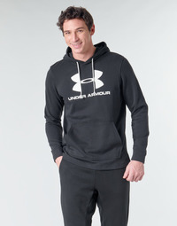 material Men sweaters Under Armour SPORTSTYLE TERRY LOGO HOODIE Black