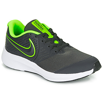 Shoes Boy Multisport shoes Nike STAR RUNNER 2 GS Black / Green