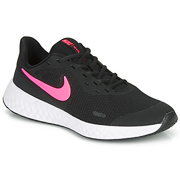 Shoes Girl Multisport shoes Nike REVOLUTION 5 GS Black / Pink