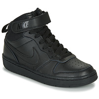 Shoes Children High top trainers Nike COURT BOROUGH MID 2 GS Black
