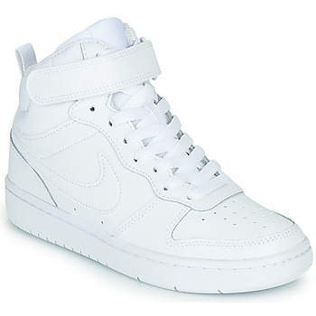Shoes Children High top trainers Nike COURT BOROUGH MID 2 GS White