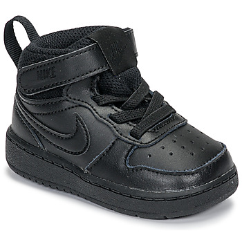 Shoes Children High top trainers Nike COURT BOROUGH MID 2 TD Black